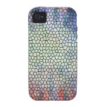 Retro stained glass iPhone 4 case