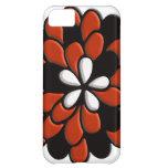 Retro Stained Glass Orange Flower iPhone 5C Case