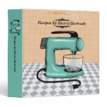 Retro stand mixer cooking baking recipe cookbook 3 ring binder