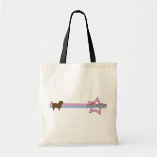 Retro Star Affenpinscher Tote Bag