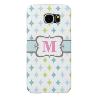 Retro Star Background Monogrammed Samsung S6 cases