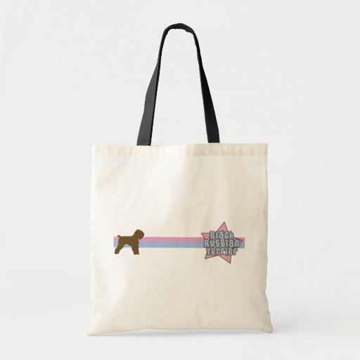 Retro Star Black Russian Terrier Budget Tote Bag