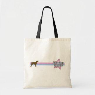 Retro Star Brittany Spaniel Budget Tote Bag