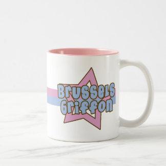Retro Star Brussels Griffon Two-Tone Coffee Mug