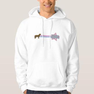 Retro Star Catalan Sheepdog Hoodie