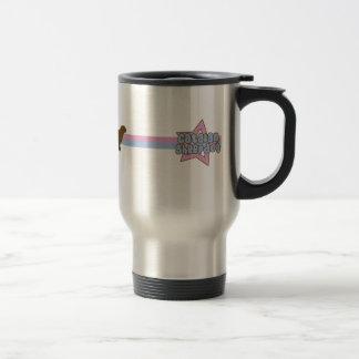 Retro Star Catalan Sheepdog Travel Mug