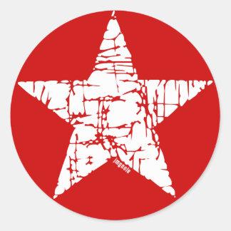Retro Star Classic Round Sticker