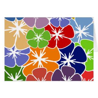 retro star flower1 card