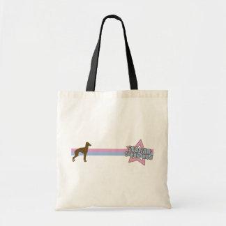 Retro Star Italian Greyhound Canvas Bags