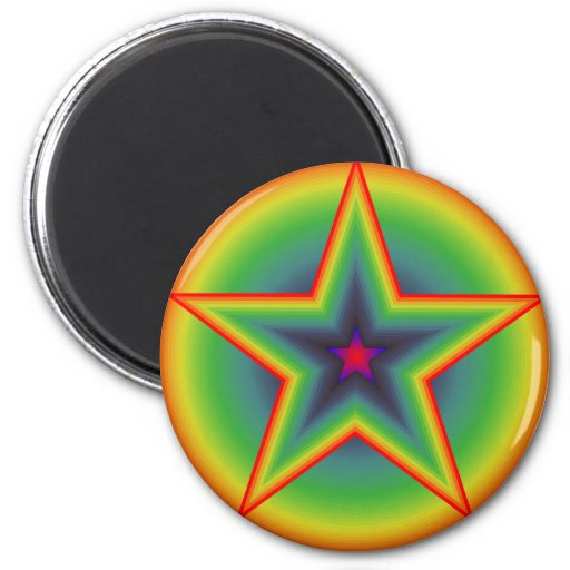 Retro Star Magnet