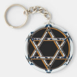 RETRO STAR OF DAVID KEYCHAIN