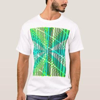 Retro Star Polka dot Green Blue T-Shirt