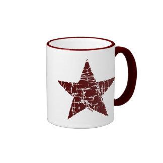 Retro Star Ringer Mug