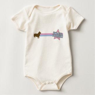Retro Star Swedish Vallhund Baby Creeper