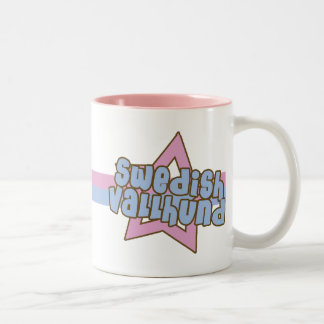 Retro Star Swedish Vallhund Two-Tone Coffee Mug