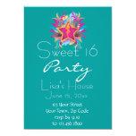 Retro Star Sweet Sixteen Birthday Invitation