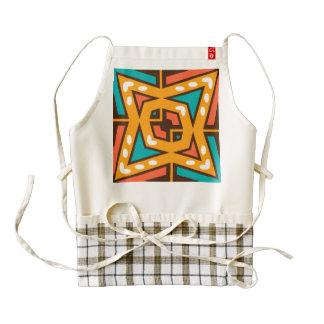 Retro star zazzle HEART apron