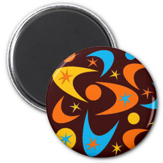 Retro Starburst & Boomerang Magnet