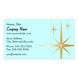 Retro Starburst Business Card - Light Blue