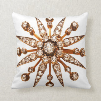 Retro Starburst Diamonds Sofa Bling Jewelry Throw Pillow