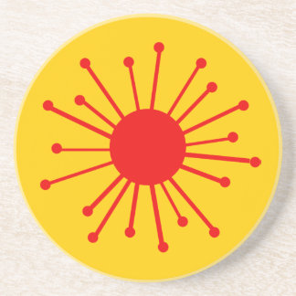 Retro Starburst Drink Coaster