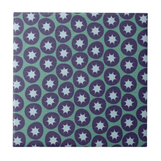 Retro Starburst Pattern Tile