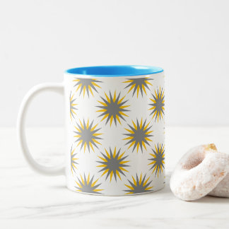 Retro Starburst Two-Tone Coffee Mug