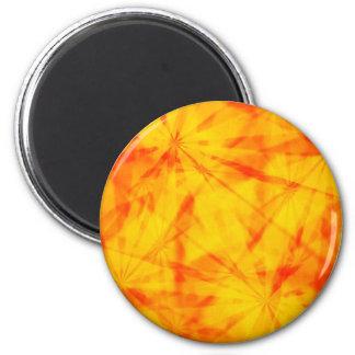 Retro starbursts 2 inch round magnet