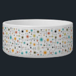 """Retro Starbursts A Go-Go! Bowl<br><div class=""""desc"""">Jazz up any dog&#39;s meal or fill it with chips and toss it on the table for a party,  with this cool retro starburst design you&#39;ll be ready for anything ! It&#39;s hip AND happenin&#39; all at once!</div>"""