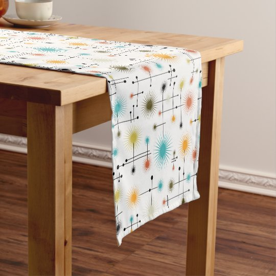 Retro Starbursts A Go Short Table Runner