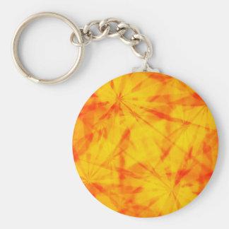 Retro starbursts basic round button keychain