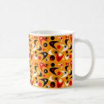 Retro Starbursts & Boomerangs Classic White Coffee Mug