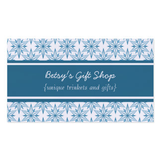Retro Starbursts Business Card, Blue Business Card