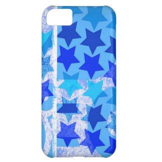 Retro stars pattern in white and blue, urban style iPhone 5C case