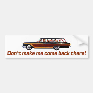 Retro Station Wagon Bumper Stickers