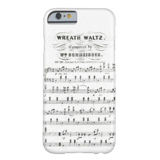 Retro staves of sheet music notes (vintage waltz) barely there iPhone 6 case