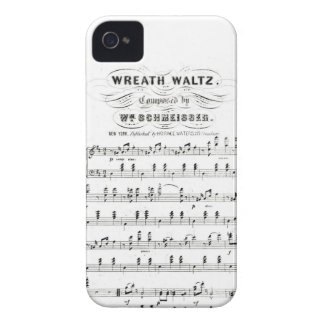 Retro staves of sheet music notes (vintage waltz) iPhone 4 covers