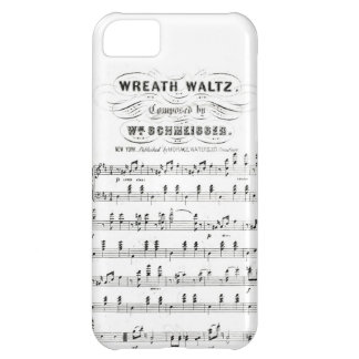 Retro staves of sheet music notes (vintage waltz) iPhone 5C cases