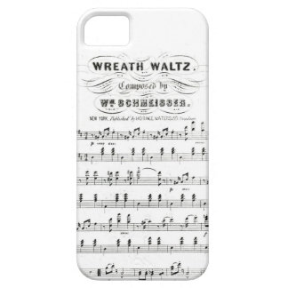Retro staves of sheet music notes (vintage waltz) iPhone SE/5/5s case