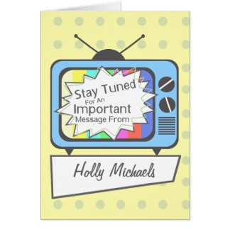 Retro Stay Tuned.....Blue TV Set Card