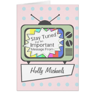 Retro Stay Tuned.....Green TV Set Card