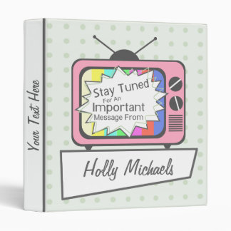 Retro Stay Tuned... Pink TV Set Binder