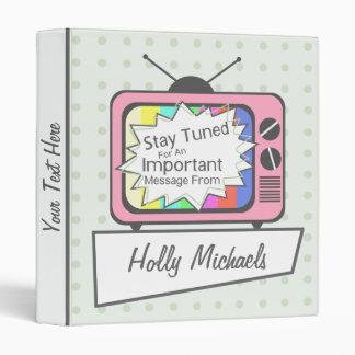 Retro Stay Tuned... Pink TV Set Binder