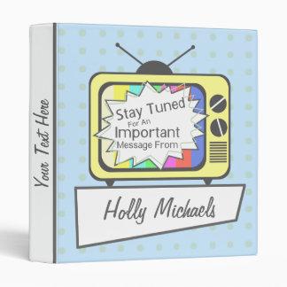 Retro Stay Tuned... Yellow TV Set Binder