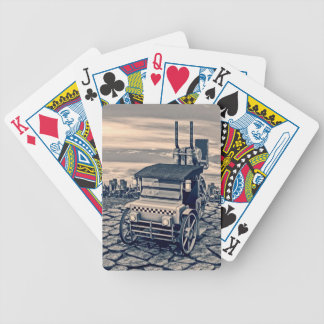 Retro Steam Cab-Taxi Bicycle Playing Cards