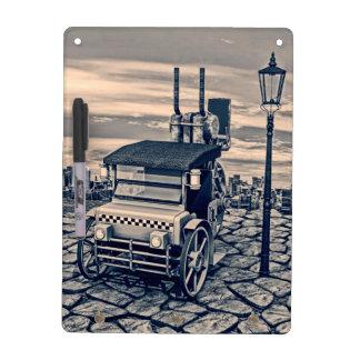 Retro Steam Cab Taxi Dry Erase Board