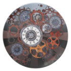 Retro steampunk watch parts, gears and cogs print dinner plate
