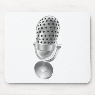 Retro steel radio microphone mic mouse pad
