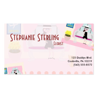 Retro Stephanie Double-Sided Standard Business Cards (Pack Of 100)