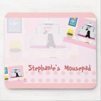 Retro Stephanie Mouse Pad